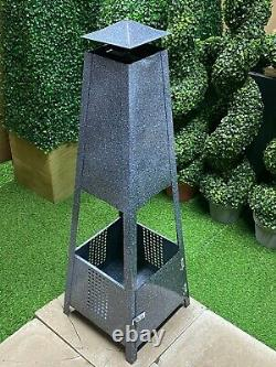100cm Pyramid Log Burner Chiminea outdoor heater