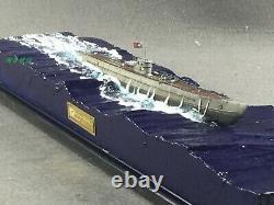 1350 Fully Assembled Model U-boat Submarine Floating Up with Seascape Base