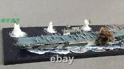1700 Fully Assembled Model With Seascape Base USS Enterprise Aircraft Carrier