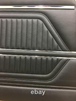 1969 Pontiac Firebird Fully Assembled Black Front Door Panels PUI (In Stock)
