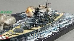 1/700 Fully Assembled Model With Seascape The KMS Bismarck Open Fire Scene