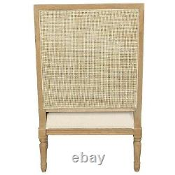 26th June Hicks Rattan Cane Armchair with Cushion Natural