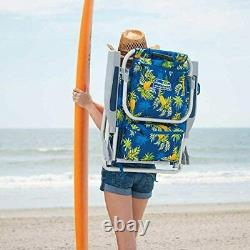 2 Tommy Bahama Backpack Beach Folding Deck Chair Pineapple NEW COLLECTION 2021