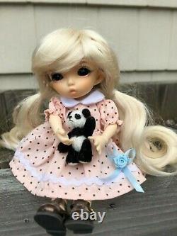 6.5 1/8 BJD MSD Pukifee Nanuri Size Doll fully assembled/dressed With panda bear