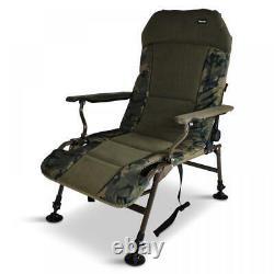 ABODE Urban Camo Carp Fishing Camping Lazy Armchair Recliner Chair