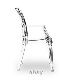 Acrylic Plexiglass Ghost Armrest Chair from High Polycarbonate UV Resists
