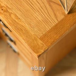 Baysdale Rustic Oak 3 Drawer Bedside Cabinet / Bedroom Lamp Table / Nightstand