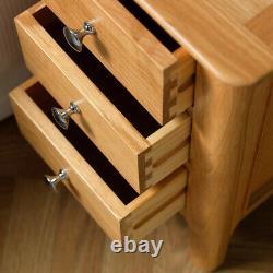 Bergen Light Oak Bedside Table / Scandinavian Style Bedroom Cabinet / Lamp Unit