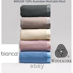 Bianca 480GSM 100% Australian Washable Wool Blanket