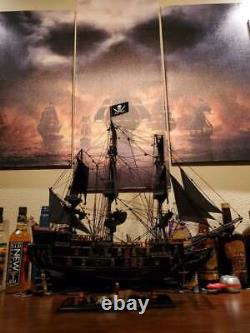 Black Pearl Caribbean Pirate Tall Ship Wooden Model 24 Fully Assembled New