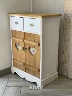 Brand New Distressed Storage Cabinet Cupboard Bedside Table Shabby French Chic