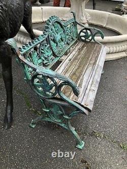 Cast iron Bench With wood slat hunting Dog bench Dog Bench