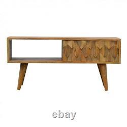 Danish Solid Mango Wood TV Cabinet 40x88x35cm Lowboard Sideboard TV Stand Unit