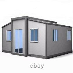 EXPANDABLE HOUSE Prefab House, Fully Assembled, 38 SQM, 409 SQ FT withdeck