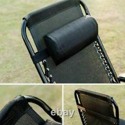 Extra Large Zero Gravity Recliner Chair Outdoor Lounge Garden Folding Patio XL