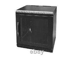 FULLY ASSEMBLED 9U 400mm wall mount cabinet rack, glass door Withlock LAST 30 DAYS