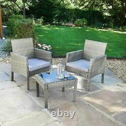 Fabulous Indoor/Outdoor Sorrento Rattan Armchair Bistro Set 3pc Garden Furniture