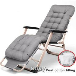 Folding Outdoor Lounge Chair Reclining Beach Sun Patio Chaise Chair Pool Garden