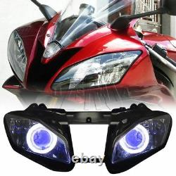 Fully Assembled Blue Demon Angel Eye Headlight Projector for Yamaha YZF R6 08-15