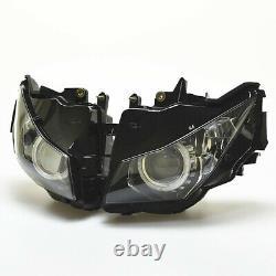 Fully Assembled HID White Angel Eye Red Demon Headlight For Honda CBR1000RR 2012