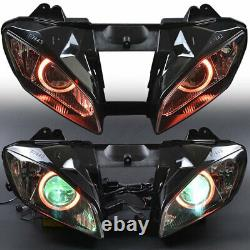 Fully Assembled Headlight Red Angel Eye HID Headlamp For Yamaha YZF R6 2008-2015