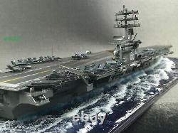 Fully Assembled Ship Model The Aircraft Carrier USS Nimitz with Seascape Base