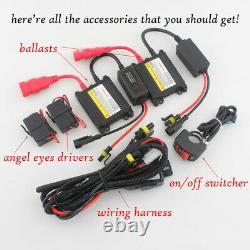 Fully Assembly Headlight Red Demon White Angel Eye Projector For Honda CBR600RR