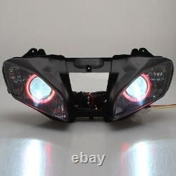 Fully HID Front Headlight Assembly Red Angel Lamp For Yamaha YZF R6 2006-2007