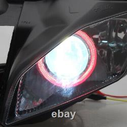 Fully Headlight Assembly Red Angel Eyes HID Headlamp For Yamaha YZF R6 2006-2007