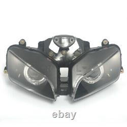 Fully Red Demon White Angel Eyes Projector Headlight Assembly For Honda CBR600RR