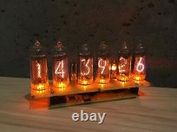 Fully assembled nixie tube clock in14 power supply includet with calendar