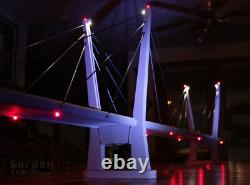HO Scale 30 (220') Cable-Stayed Suspension Train Bridge, Fully Assembled
