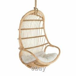 Hanging cane chair indoor / outdoor