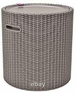 KETER Cool Stool, 39 Litre Capacity, Cappuccino