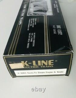 K-LINE K-3003 Santa Fe Steam Engine & Tender new
