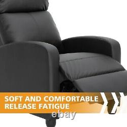 Leather Manual Recliner Chair Single Theater Sofa Chair Home Lay Back Chair