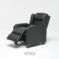 Leather Recliner Chair Single Couch Theater Sofa Chair Home Lay Back Chair