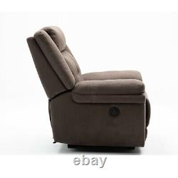 Leather Recliner Chair Single Couch Theater Sofa Chair Home Lay Back Chair Brown