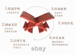 Lu Ban Stool Red Flower Pear Portable Chinese Traditional Retro Handicraft