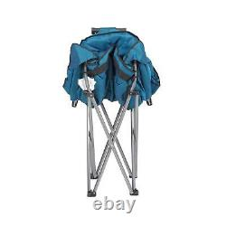 Mac Sports Folding Portable Padded Outdoor Club Camping Chair with Bag, Blue