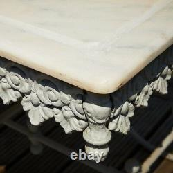 Marble Top Ornate Butcher Table Garden French Style Antique Design Furniture