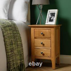 Matching Pair Bergen Light Oak Bedside Cabinets / Scandi Retro Lamp End Tables