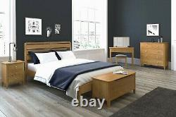 Matching Pair Retro Oak Small Bedside Tables / Set of 2 Bedroom Cabinets Units