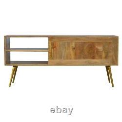 Mid Century Scandinavian Style Sideboard / Media Unit Cement & Gold