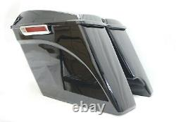 Mutazu 4.5 2 into 1 Cut Extended Stretched Saddlebags for 14-up Harley Touring