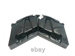Mutazu Black No Cutout Extended Stretched Saddlebags for 94-2013 Harley Tourings