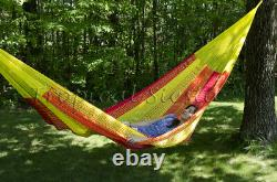 NEW FAMILY COTTON Mexican Hammock Frm Yucatan Authentic