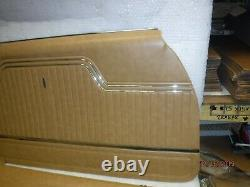 New 1970-1972 Chevelle Saddle Front Door Panels Fully Assembled Malubu Ss Conv