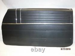 New Blem 1968 El Camino Front Door Panel Fully Assembled Right Side Black Ss 396