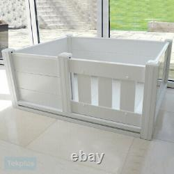New Plastic Whelping Box Dog Puppy Bedding Pet Welping Puppies Litter